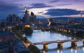 Frankfurt Bridge Night