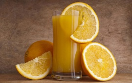 Fresh Orange Juice And Oranges