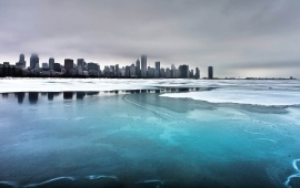 Frozen City Lake