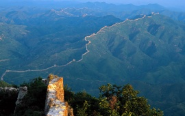 Full View Of China Wall