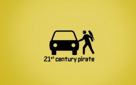 Funny 21st Century Pirate