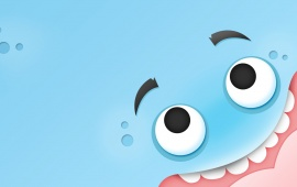 Funny Blue Monster