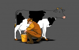 Funny Cow Milk Snatching
