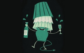 Funny Drunk Lamp
