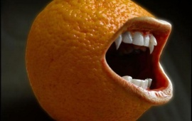 Funny Laughing Orange