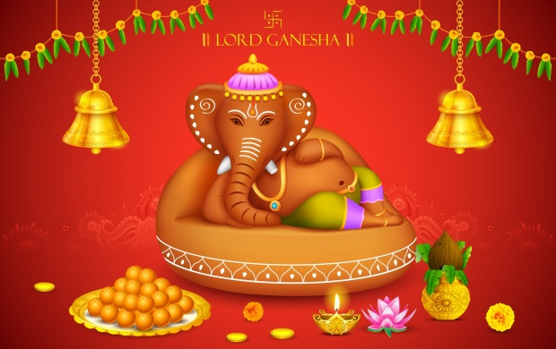 Ganesh chaturthi decoration wallpapers for Background decoration for ganesh festival