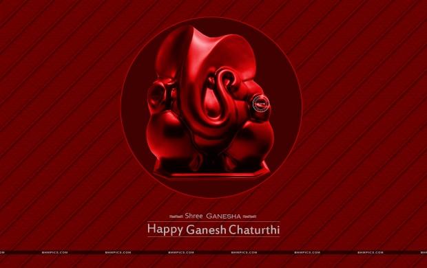 4691 Views Ganesh Chaturthi In Red Background