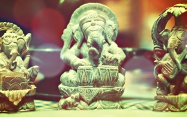 Ganesh Statues Playing Instruments