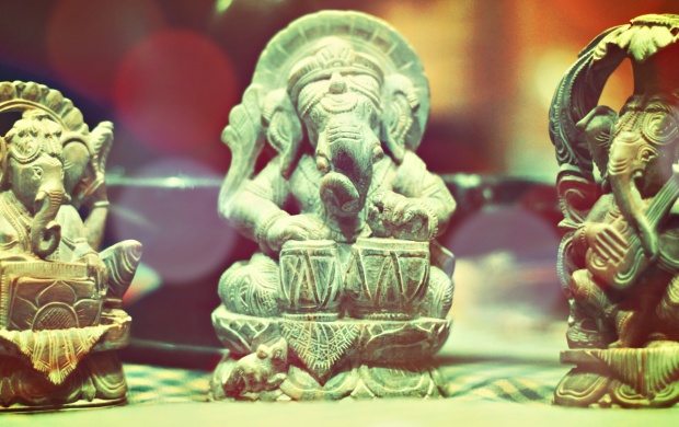 Ganesh Statues Playing Instruments (click to view)
