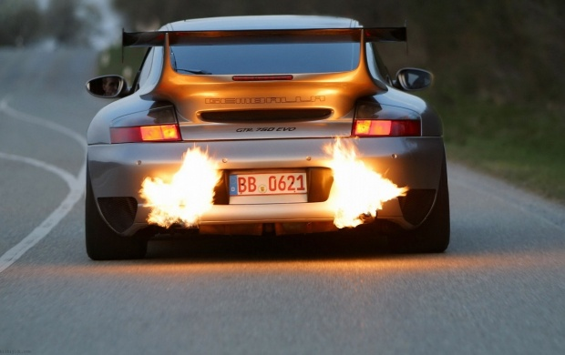 Gemballa Exhaust Flames (click to view)