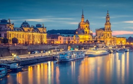 Germany Cityscape On The Elbe River