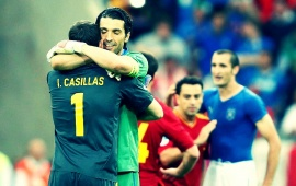 Gianluigi Buffon And Iker Casillas