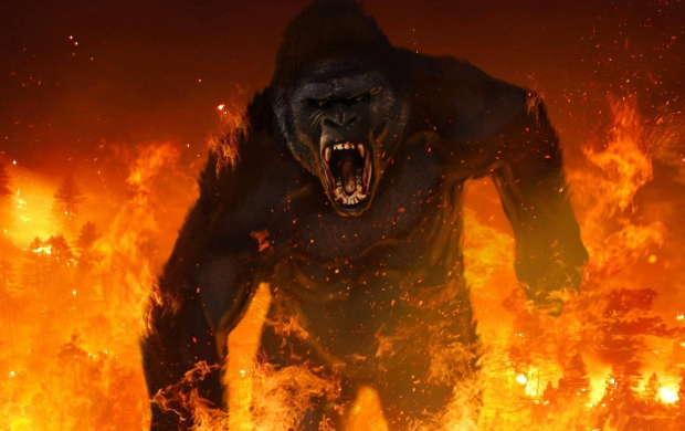 Giant Gorilla Kong Skull Island (click to view)