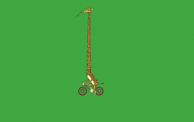 Giraffe Bike Art Funny (click to view)