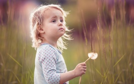 Girl With Summer Dandelion