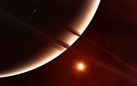 Gliese876 Exoplanet Rings