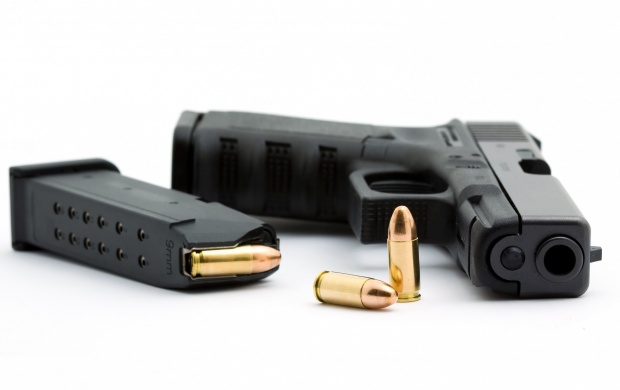 Glock Gun And Bullets (click to view)