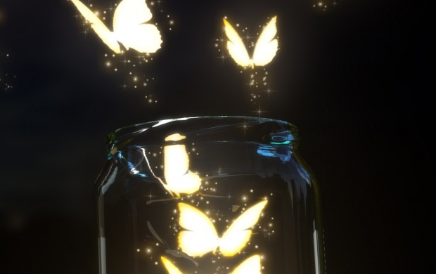 Glowing Butterflies (click to view)