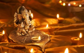 God Ganesh At Diwali Festival