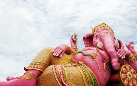 God Ganesh Lying On Pillow (click to view)