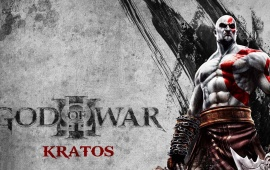 God Of War Kratos On Grey