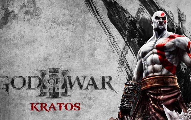 God Of War Kratos On Grey (click to view)