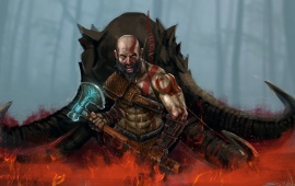 God Of War Warrior Kratos Art