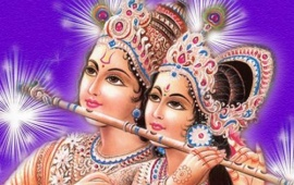 God Radha Krishna In Purple