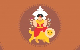 Goddess Durga Cartoon