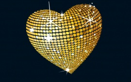 Gold Disco Heart
