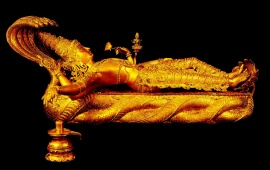Gold Statue Of Lord Vishnu
