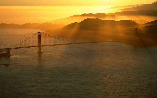 Golden Gate Bridge at Sunset (click to view)