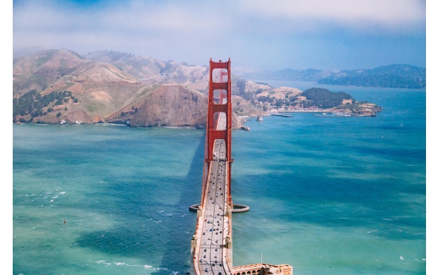 Golden Gate Bridge Seen From Above (click to view)
