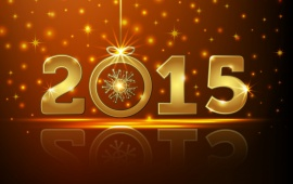 Golden Happy New Year 2015