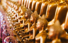 Golden Idols Lord Buddha