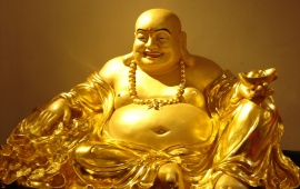 Golden Smiling Buddha