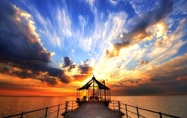Gorgeous Sunset From The Pier (click to view)