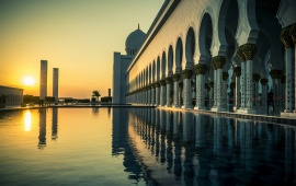 Grand Mosque Abu Dhabi Sunset