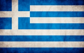 Greece Grungy Flag