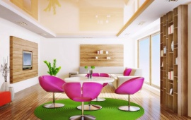 Green And Pink Interior Room