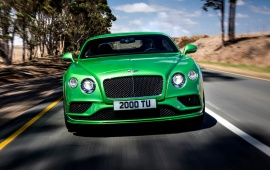Green Bentley Continental GT 2016