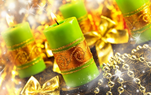 Green Candles And Beads (click to view)