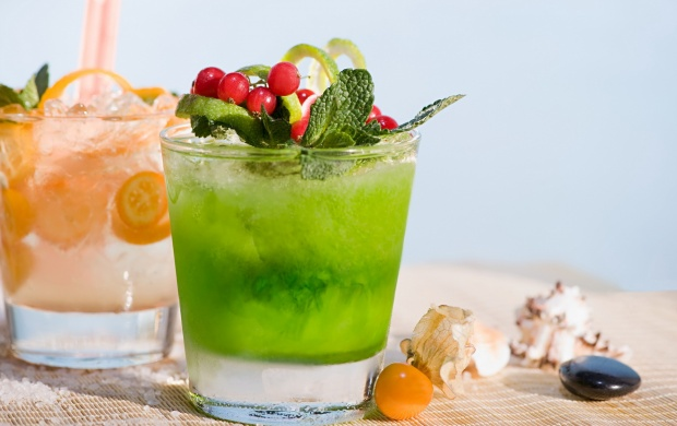 Green Cocktail Drink (click to view)