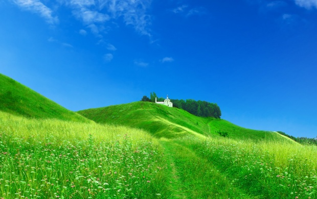 Green Hills and Blue Sky (click to view)