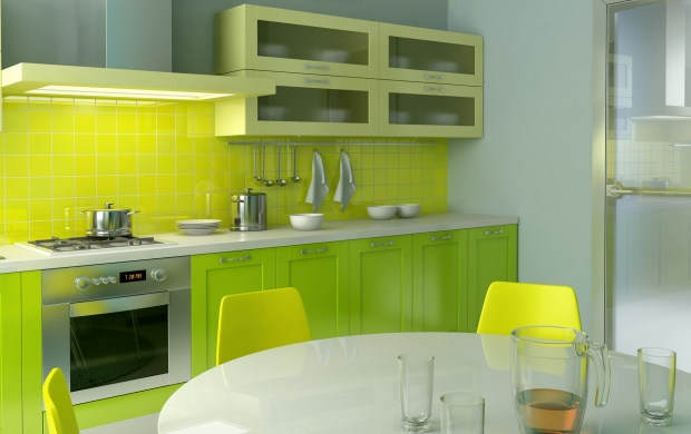 Green Kitchen Design (click to view)