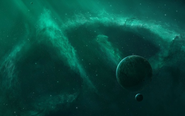 Green Nebula Planets (click to view)