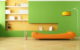 Green Orange Living Room