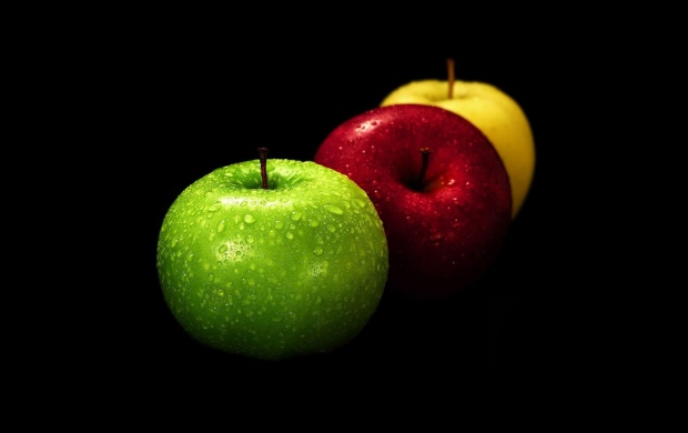 Green, Red and Yellow Apples (click to view)