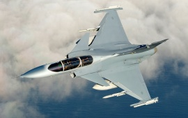 Gripen Fighter Jet Seen From Above