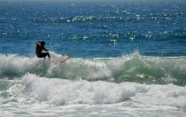 Guy surfing
